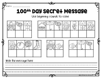 Hooray! Activities for the 100th Day!