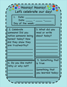 Hooray! Hooray! Let's celebrate our day!  25 Afternoon Activity Pages