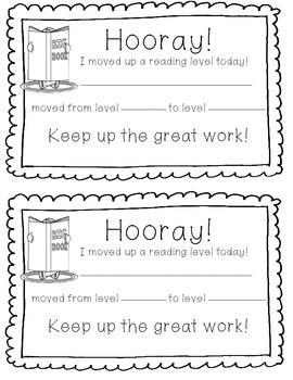 Hooray! Reading Level Certificates