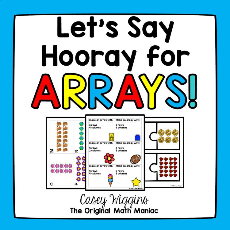 Array Match Up! Solve the multiplication sentences and ...   Array Math Landmark