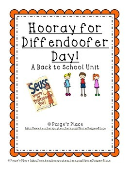 Hooray for Diffendoofer Day!: A Back to School Packet