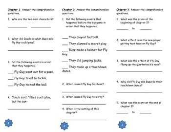 Hooray for Fly Guy Comprehension Tri-fold