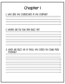 Hooray for Fly Guy Guided Reading Comprehension Questions