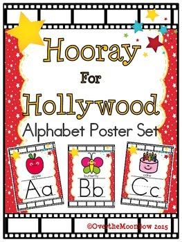 Hooray for Hollywood Alphabet Display Poster Set