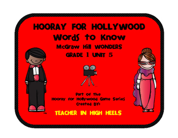 Hooray for Hollywood Game: Grade 1 Wonders Words to Know U
