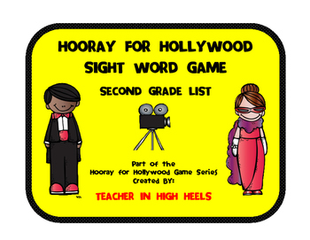 Hooray for Hollywood Game: Second Grade Sight Words