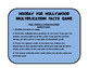 Hooray for Hollywood Multiplication Facts Card Game