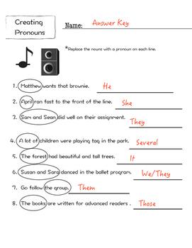 Pronouns Literacy Packet