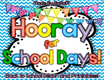Hooray for School Days! {Colorful Classroom Decorations SUPER pack!}