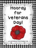 First Grade Social Studies: Veterans Day