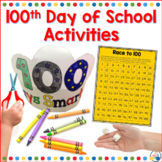 100th Day of School Activities Kindergarten, First and Second Grade