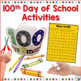 100th Day of School Activities Kindergarten, First and Sec