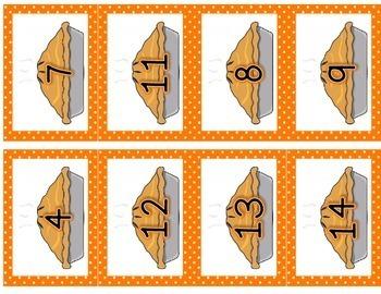 Thanksgiving 3 Addends {Doubles and Make Ten} Math Center
