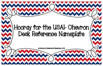 Hooray for the USA! Chevron Desk Reference Nameplates