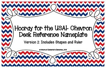 Hooray for the USA! Chevron Desk Reference Nameplates Version 2