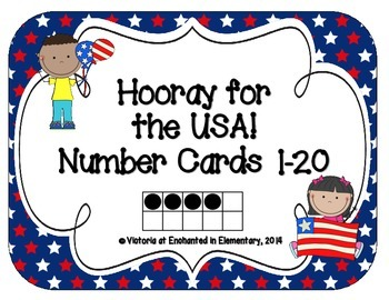 Hooray for the USA! Number Cards 1-20