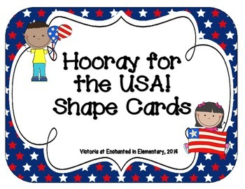 Hooray for the USA! Shape Cards