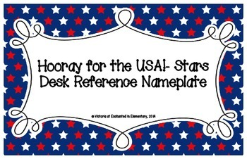 Hooray for the USA! Stars Desk Reference Nameplates