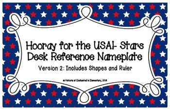 Hooray for the USA! Stars Desk Reference Nameplates Version 2
