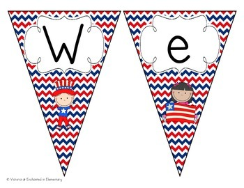 Hooray for the USA! Welcome Pennant: Chevron Set