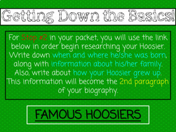 Hoosier Biographies - A HyperDoc Game