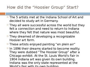 Hoosier Group Artists Powerpoint