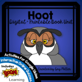 Hoot Novel Study: vocabulary, comprehension, writing, skills  [Carl Hiaasen]