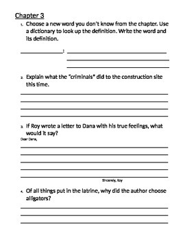 Hoot Chapter Journal Questions