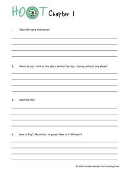 Hoot Comprehension and Assessment Bundle