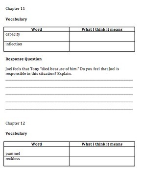 Hoot Comprehension Questions and Vocabulary Guide