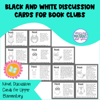 Hoot (Hiaasen) Discussion Cards