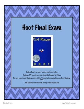Hoot Final Exam Test