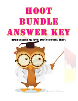 Hoot Grammar Bundle Answer Key