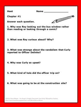Hoot Novel Study