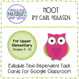 Hoot (Hiaasen) *DIGITAL* Discussion Cards for Google Classroom