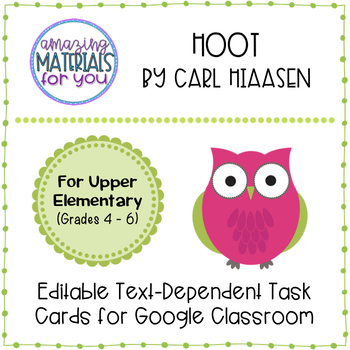 Hoot (Hiaasen) *DIGITAL* Discussion Cards