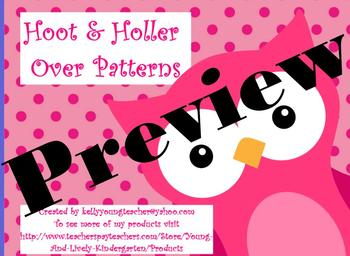 Hoot & Holler Over Patterns for ActivBoard