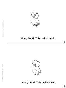 Hoot, Hoot!  An Owls Informational Easy Reader