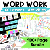 Word Study Bundle : Activities for First Grade Word Work