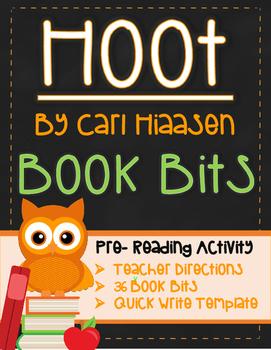 Hoot Pre-Reading Activity: Book Bits (Novel Study)