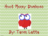 Hoot Money Dominoes- math stations or centers, coins, money