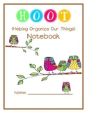 Hoot Notebook- Owl Theme