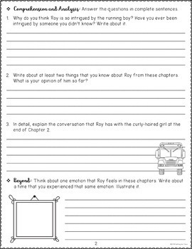 Hoot Novel Study FREE Sample