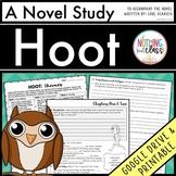 Hoot Novel Study Unit: comprehension, vocabulary, activities, tests