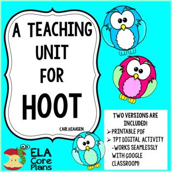 Hoot Novel Unit
