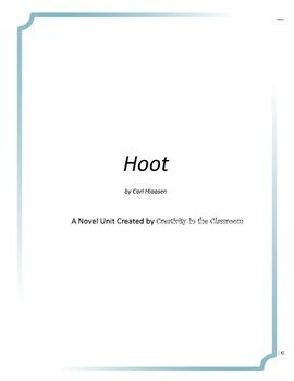 Hoot Novel Unit Plus Grammar