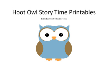 Hoot Owl Story Time Printables