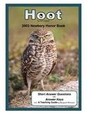 Hoot Short Answer Questions