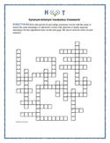 Hoot: Synonym/Antonym Crossword—Use with Bookmarks Plus!