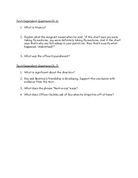 Hoot Text-Dependent Questions Ch.1-7